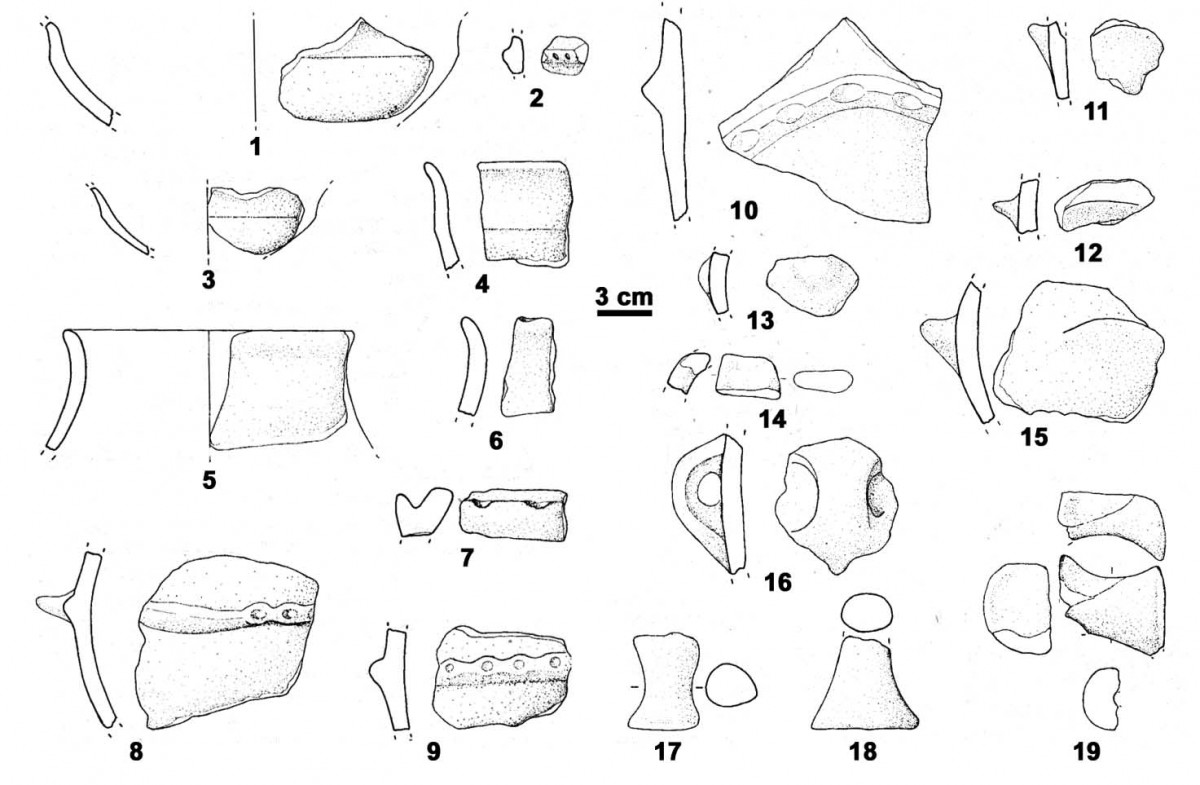Potsherds collected during the CRD survey (after Pascucci 1996)