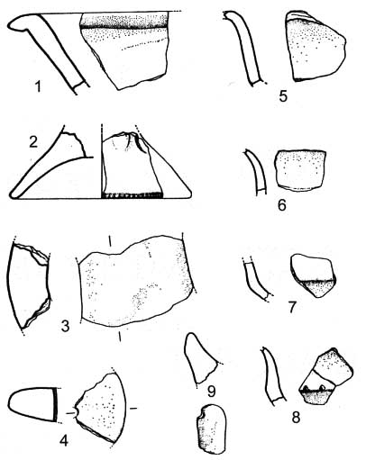 Pottery sherds from Colle Pistasale (after Cancellieri 1986)