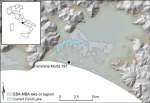 Coring location in the Fondi basin, Femmina Morta 197.